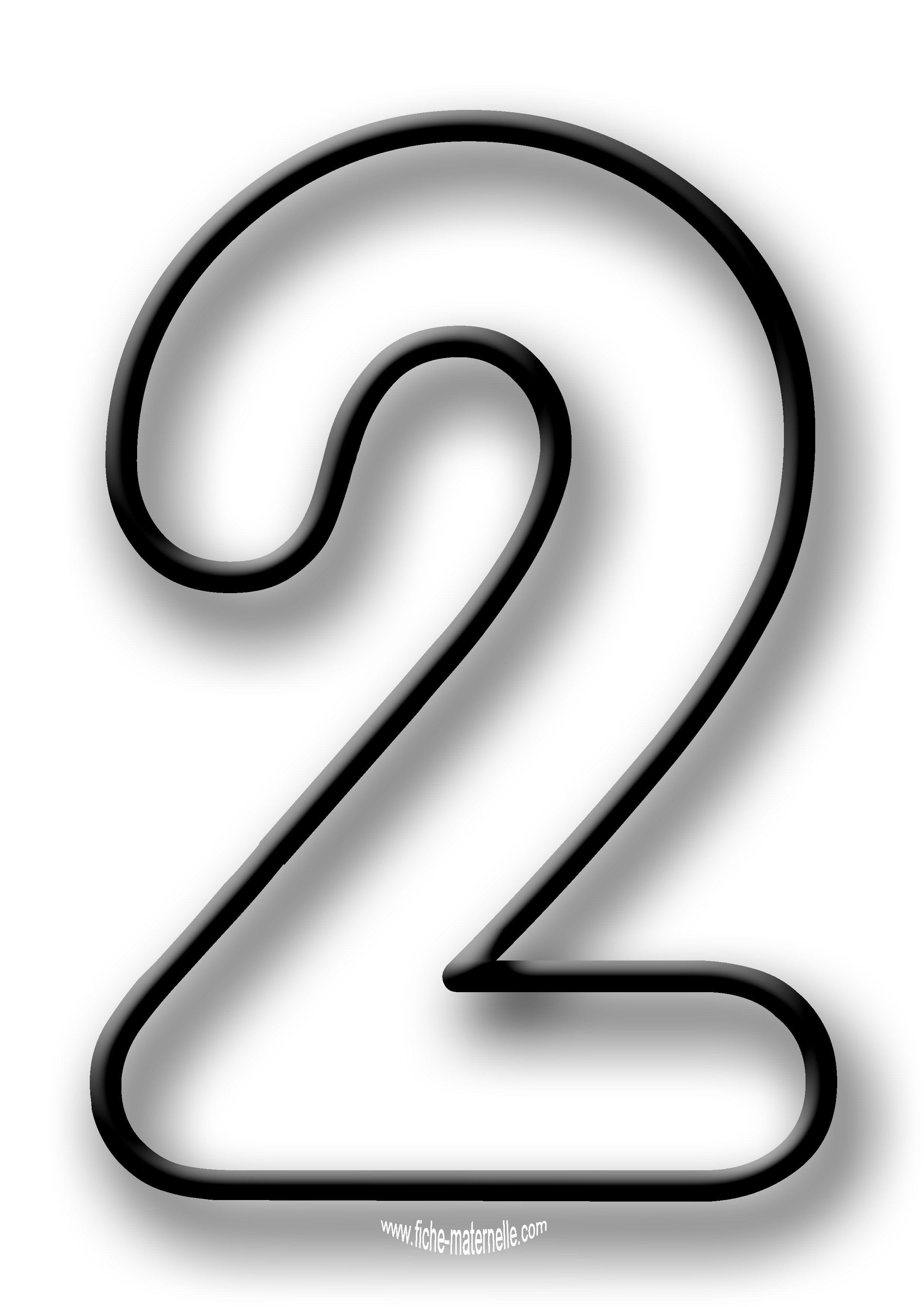 Coloriage des chiffres lettres d coratives pinterest - Chiffre a imprimer gratuit ...