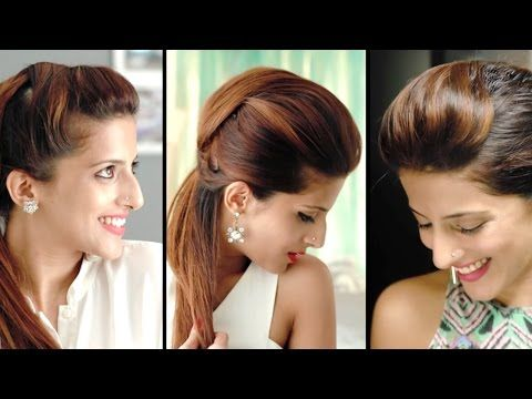 How To Create The Perfect Pouf Hairstyles And Quick Ponytail Tricks Hair Styles Ponytail Trick Ponytail Hairstyles Easy