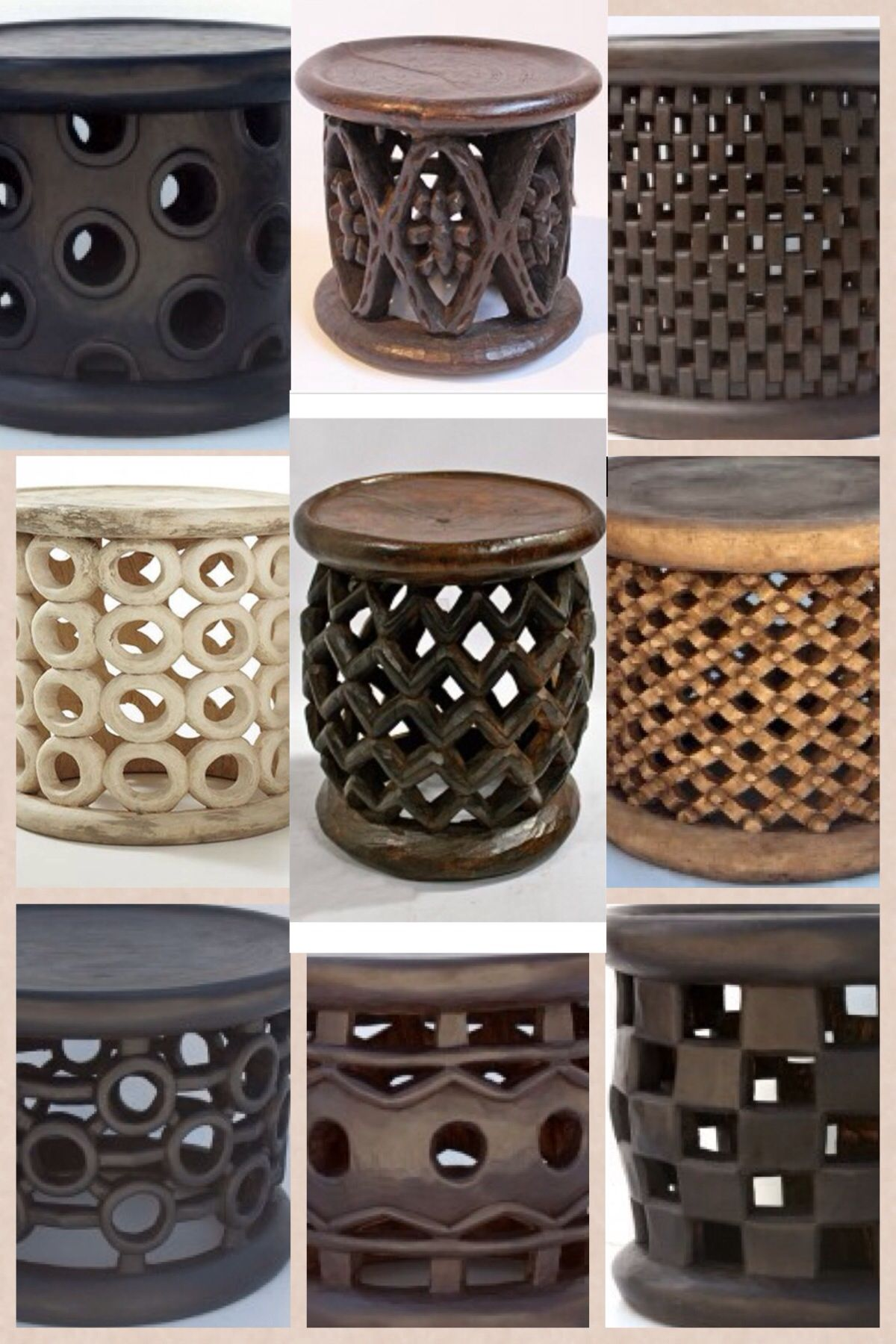 Bamileke stools is the king s seat in the Bamileke tribes of Cameroon