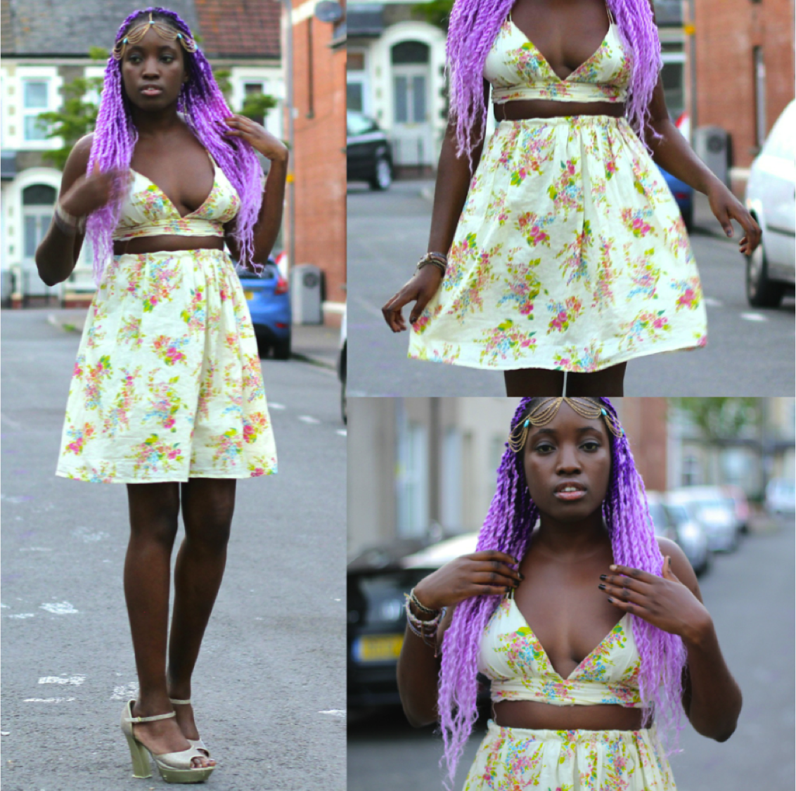 Vanessa from The Fashion Haven gives an old dress a modern twist by transforming it into this stunning two-piece! Full post: http://www.thefashionhaven.com/2014/07/diy-glorious-two-piece.html