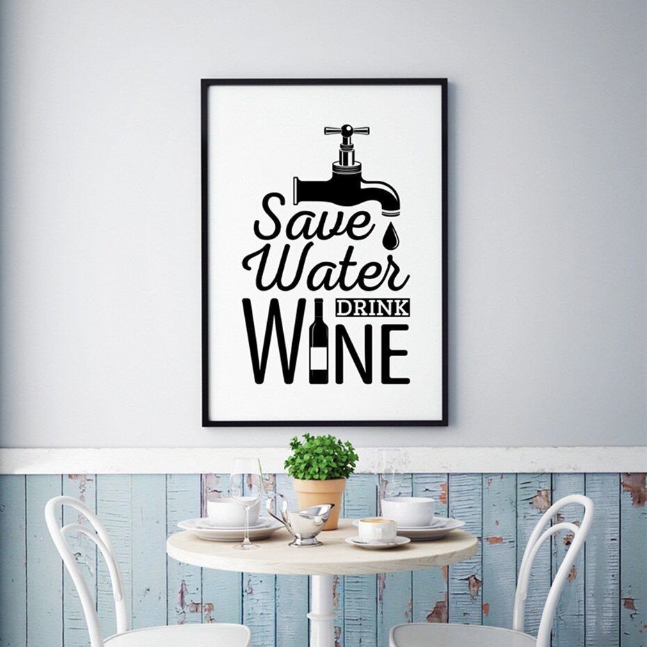 Funny Wine Quotes Posters Prints Toilet Sign Canvas Painting For Bathroom Home Decoration Modern Creative Wall Art Pictures Creative Wall Art Wall Canvas Painting Wall Art Pictures