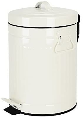 amazon: bathroom trash can with lid, small white waste