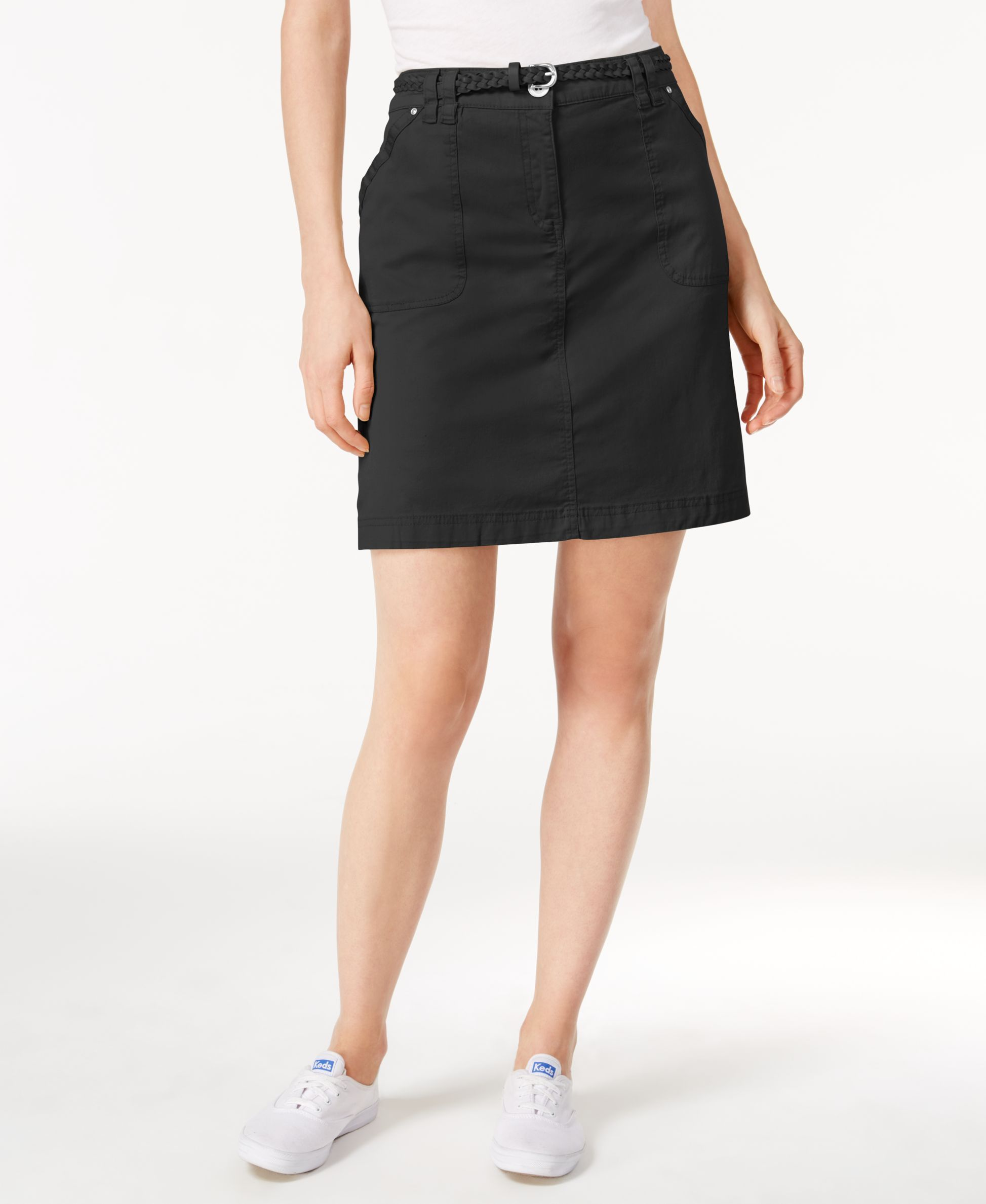 9931752d56 Karen Scott Belted Skort, Only at Macy's | Products | Skirt belt ...
