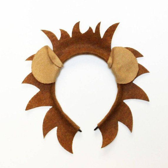Lion ears and mane headband birthday party favors supplies Halloween  Costume hat kid children child 1ede8e174ad5