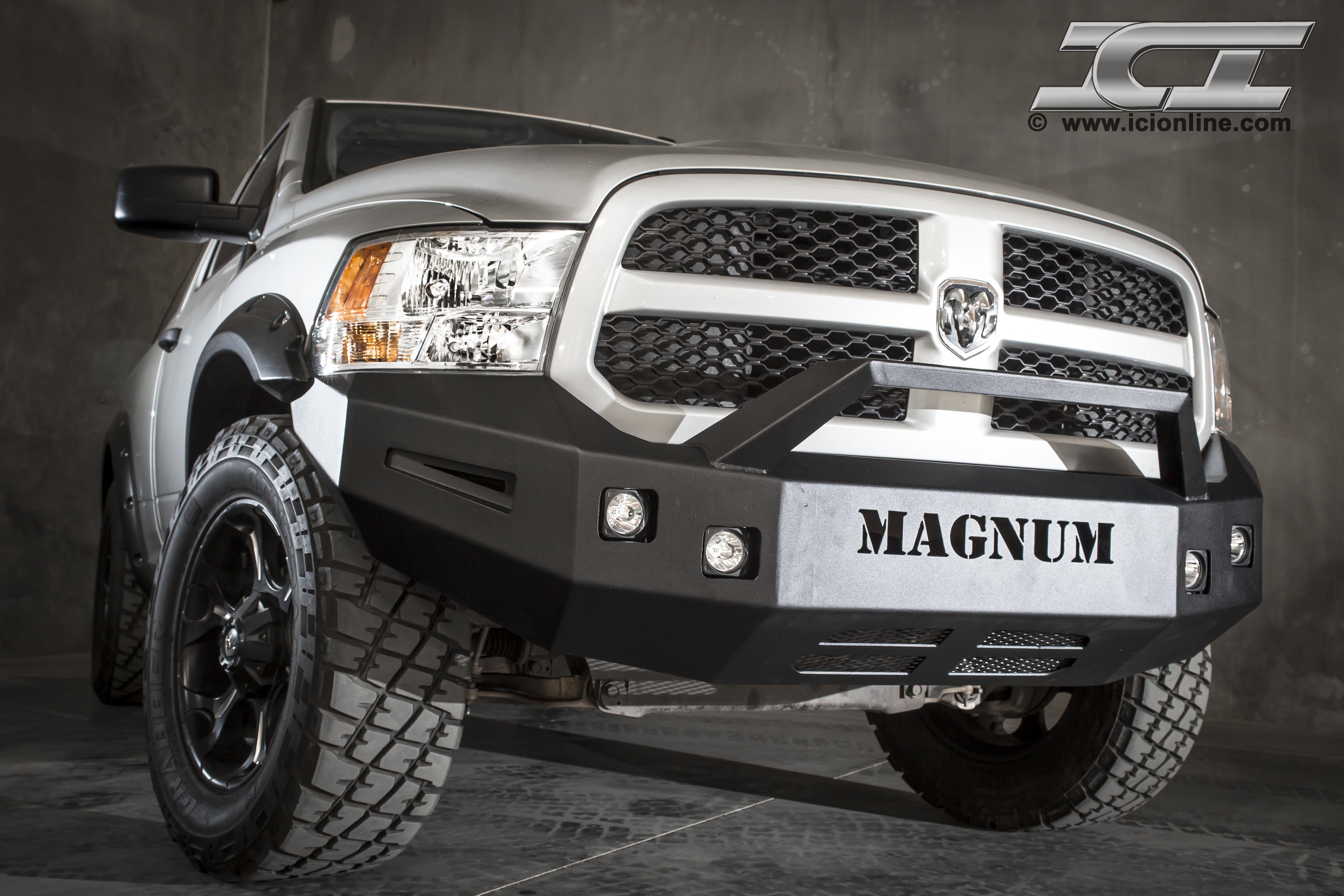 Front Magnum Bumper for 2009 2014 Dodge Ram 1500 Sport and Non
