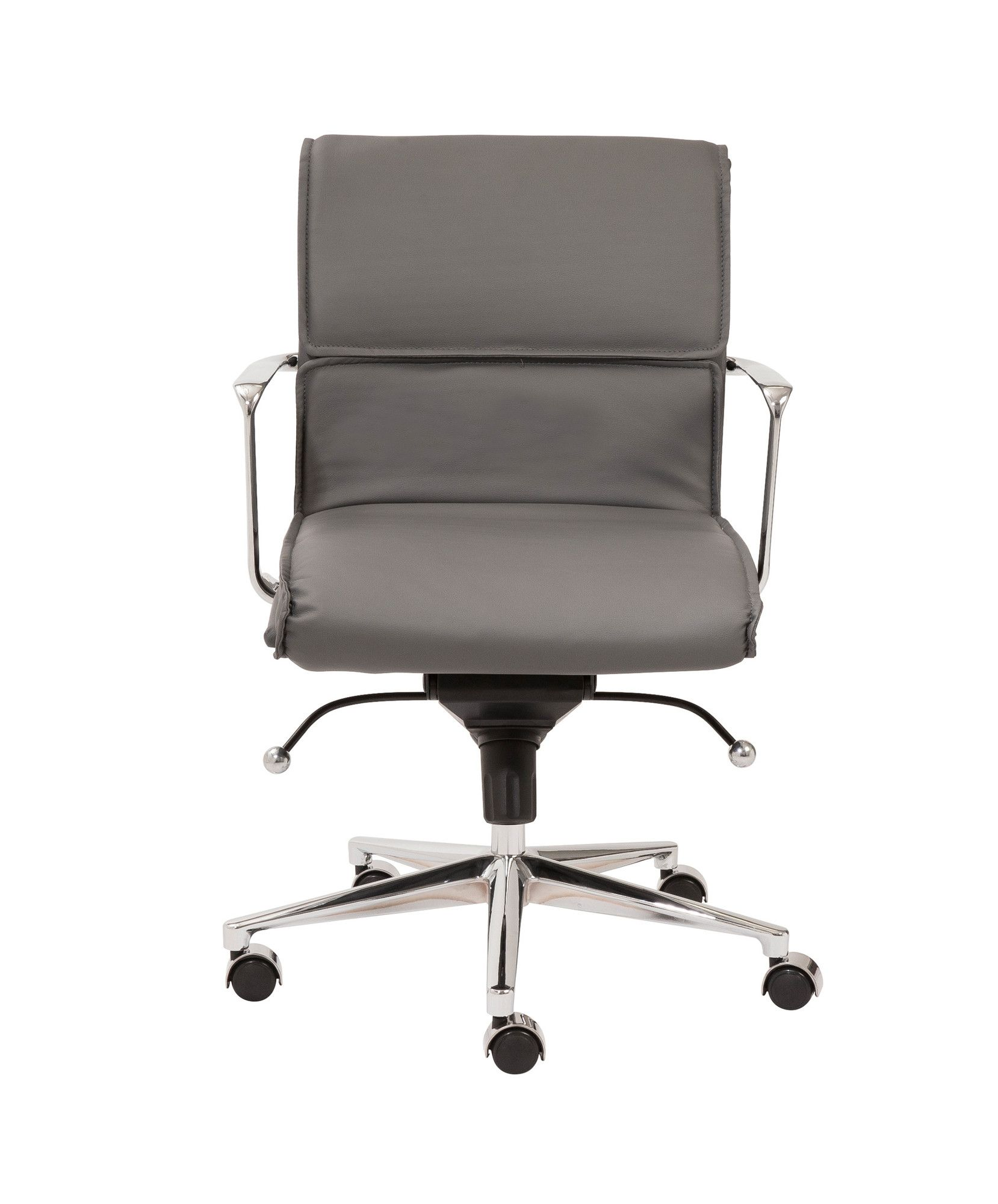 Astonishing Eurostyle Leif Low Back Leatherette Office Chair With Arms Gmtry Best Dining Table And Chair Ideas Images Gmtryco