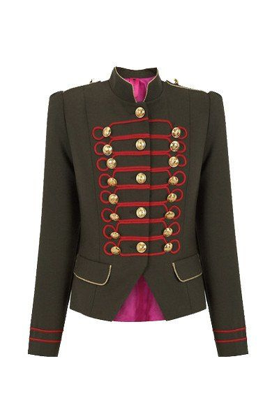 Beatle Verde y Rojo Military Jacket