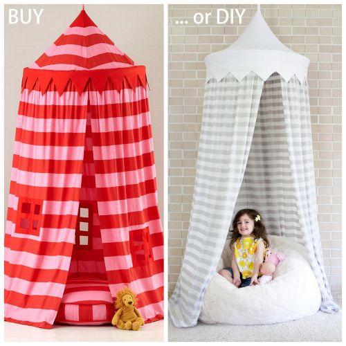 BUY $159 Land of Nod Home Sweet & BUY or DIY: Hula Hoop Tent.BUY: $159 Land of Nod Home Sweet Play ...