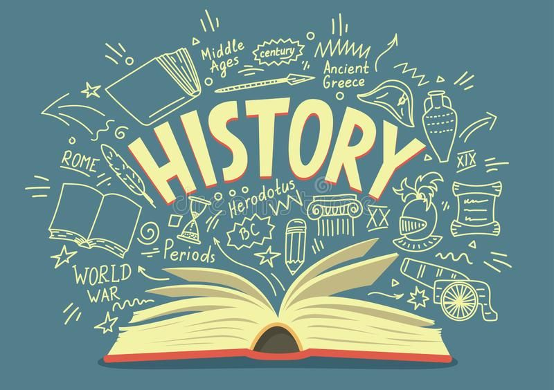 Photo of History Doodles With Lettering. Stock Vector – Illustration of word, vector: 137829161