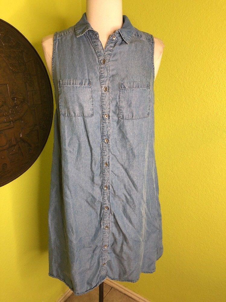 6df8f8ec64  DenimDress Mossimo Womens Medium Dress Denim Shirt dress Sleeveless  Buttons Shift - Denim Dress  15.99 End Date  Sunday Dec-9-2018 11 13 55 PST  Buy It Now ...
