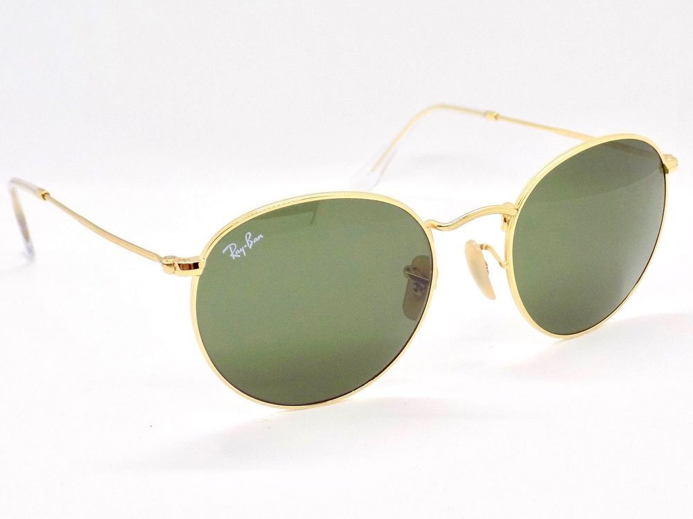 8274acc238bb8 Ray Ban Round Metal Sunglasses RB3447 001 50mm   Case  fashion  clothing   shoes  accessories  vintage  vintageaccessories (ebay link)