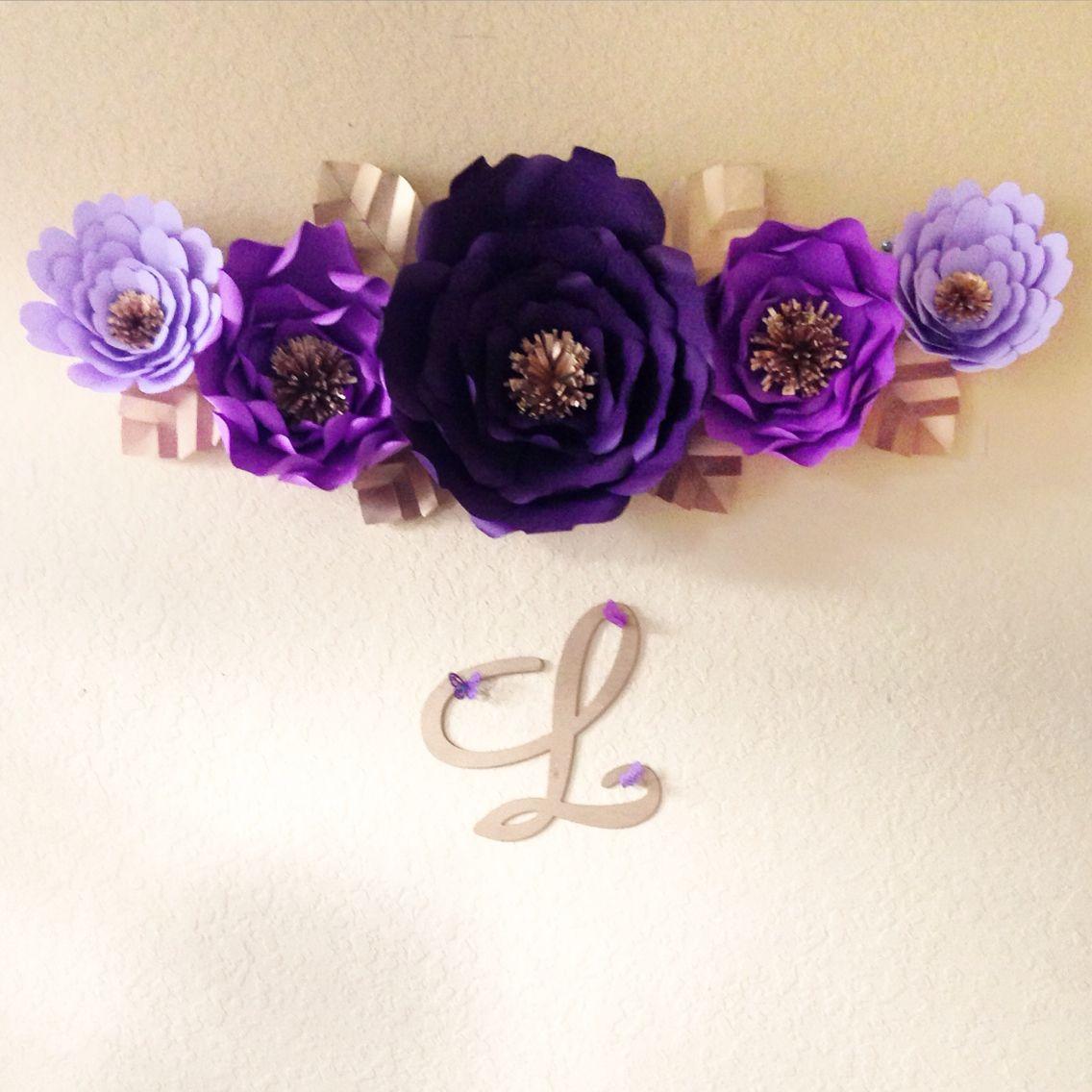 Paper flower backdrop London Blue Events  Floral Decor  Pinterest