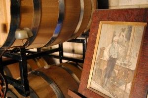 Inside the winery at Gloriosa!  Barrel tasting...the only way!!