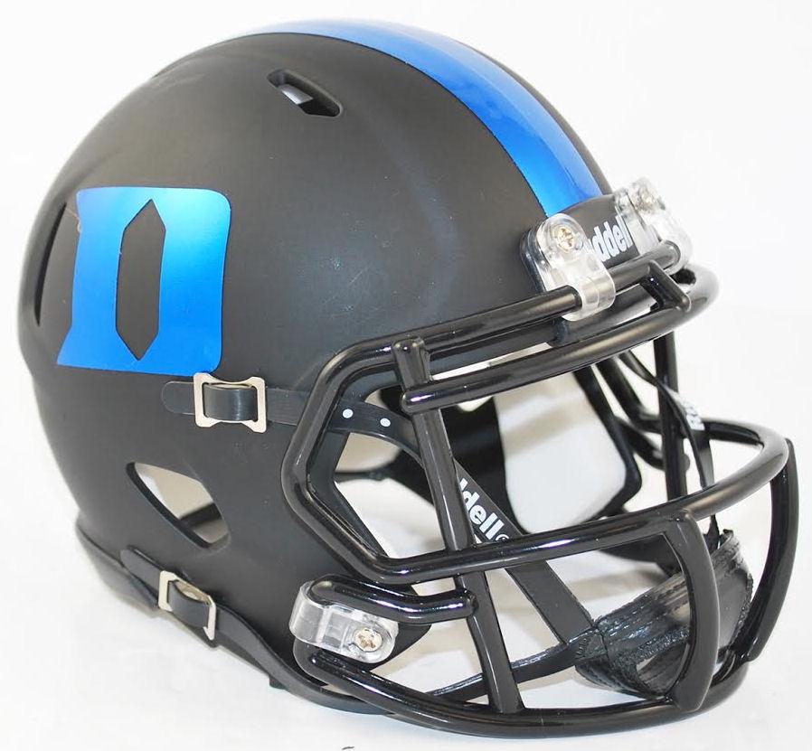 Duke Blue Devils Ncaa Mini Speed Football Helmet Matte Black Football Helmets Cool Football Helmets Football