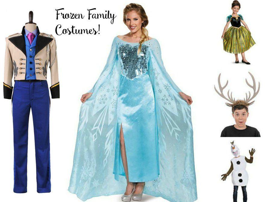 Frozen Group or Family Costumes - Adult tweens teens children and toddlers. Choose from Elsa Anna Sven Olaf Hans and Kristoff  sc 1 st  Pinterest & 2017 Disney FROZEN Halloween Costumes for the Whole Family ...
