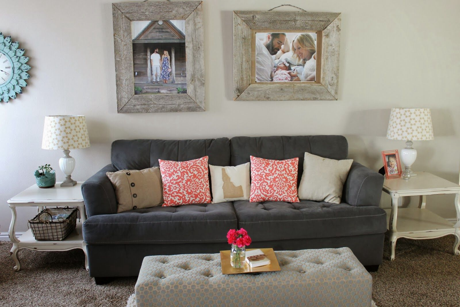 Coral Turquoise And Gold Living Room Room Decorations Pinterest Living Rooms Room And