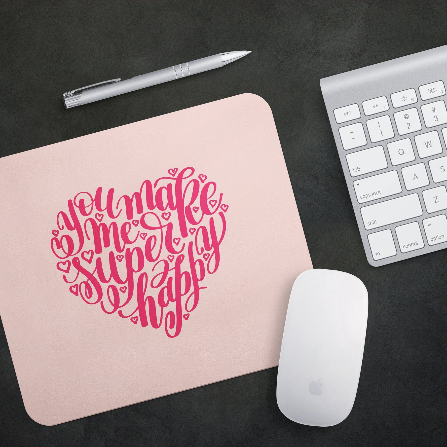 Heart Quote Gaming Mouse Pad Custom Unique And Inspirational Pattern Design For Work Heart Quotes Pattern Design Custom
