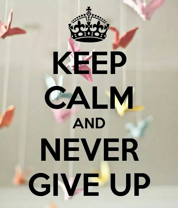 Never give up | Keep calm