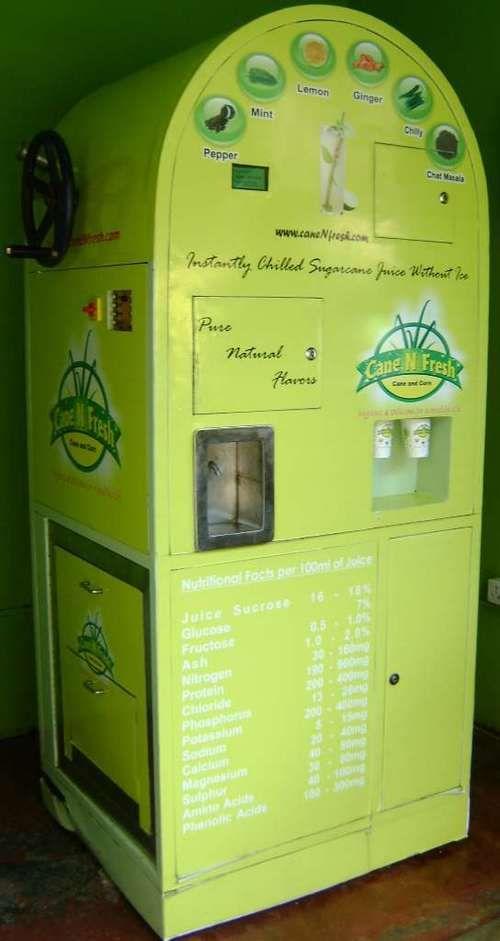Sugarcane Juice Extractor Vending Machine Raw In 2019 Sugarcane