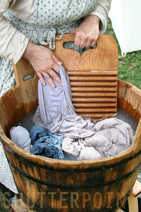 Hand Washing 18th Century Style Willa Took The Idle Laundry Stick And Gave The Boiling