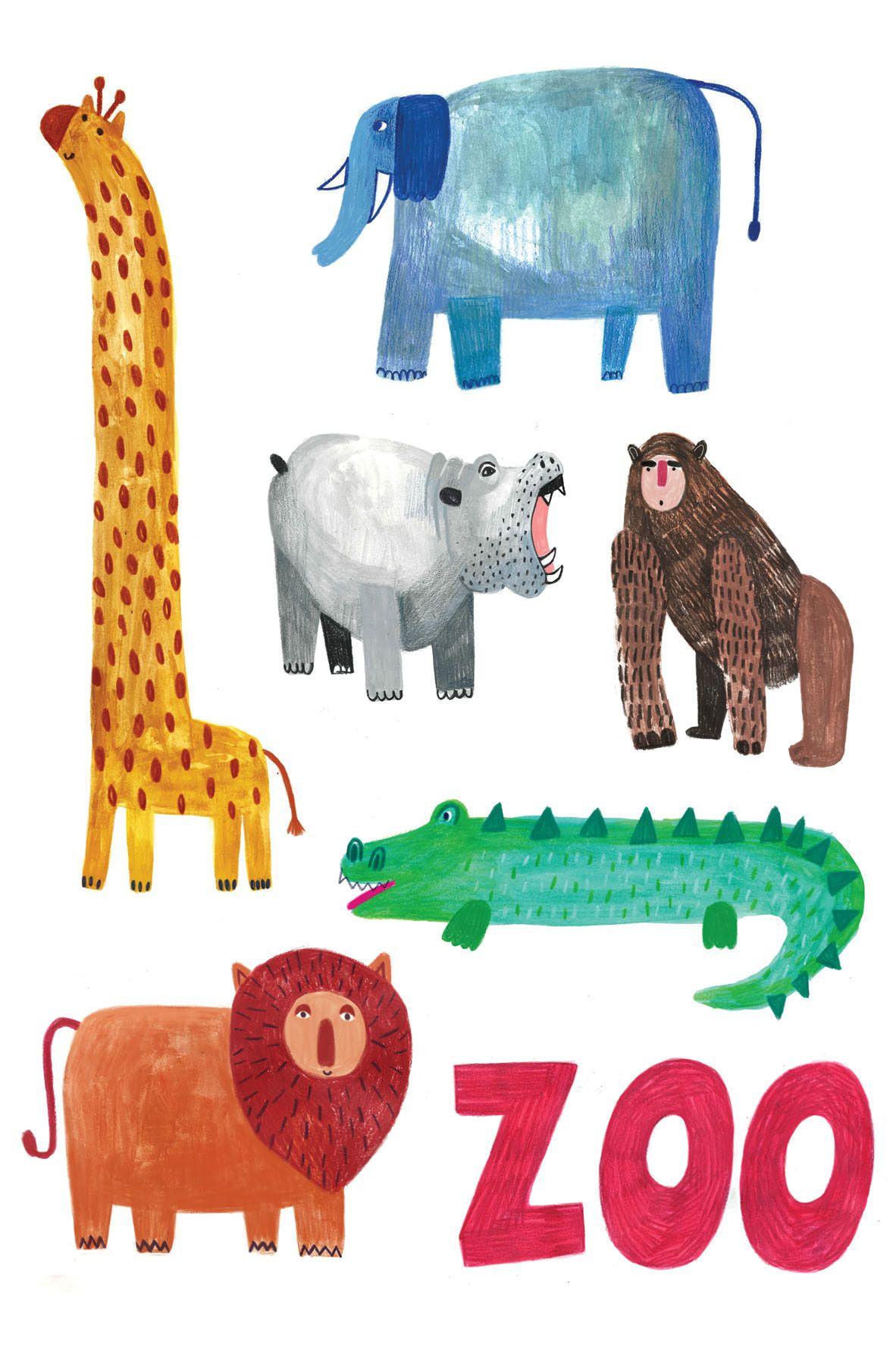 Animals on Behance illustration by Daria Solak zooanimals