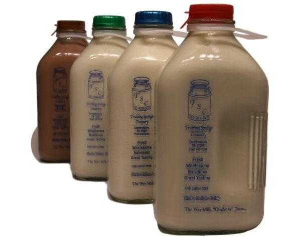 Trickling Springs Creamery. Its the best milk and I crave the chocolate.