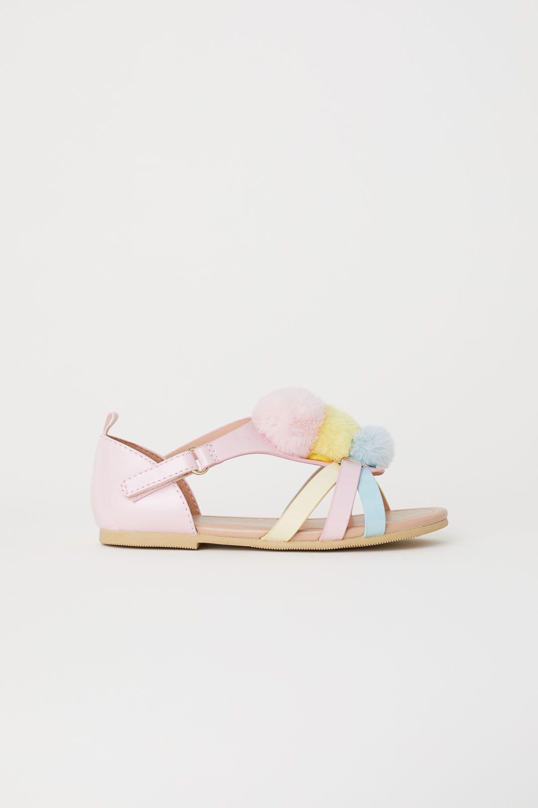 d8801278833 Appliquéd sandals - Light pink Pompoms - Kids