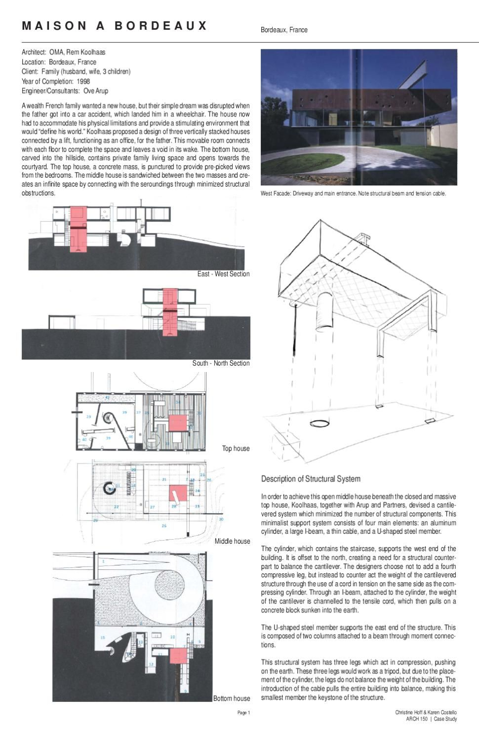 Case study maison a bordeaux rem koolhaas and architecture - Maison de l architecture bordeaux ...