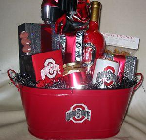 The Ultimate Tailgate Tin Osu Wine Gift Basket Ohio State Gift Basket Osu Gift Fundraiser Baskets