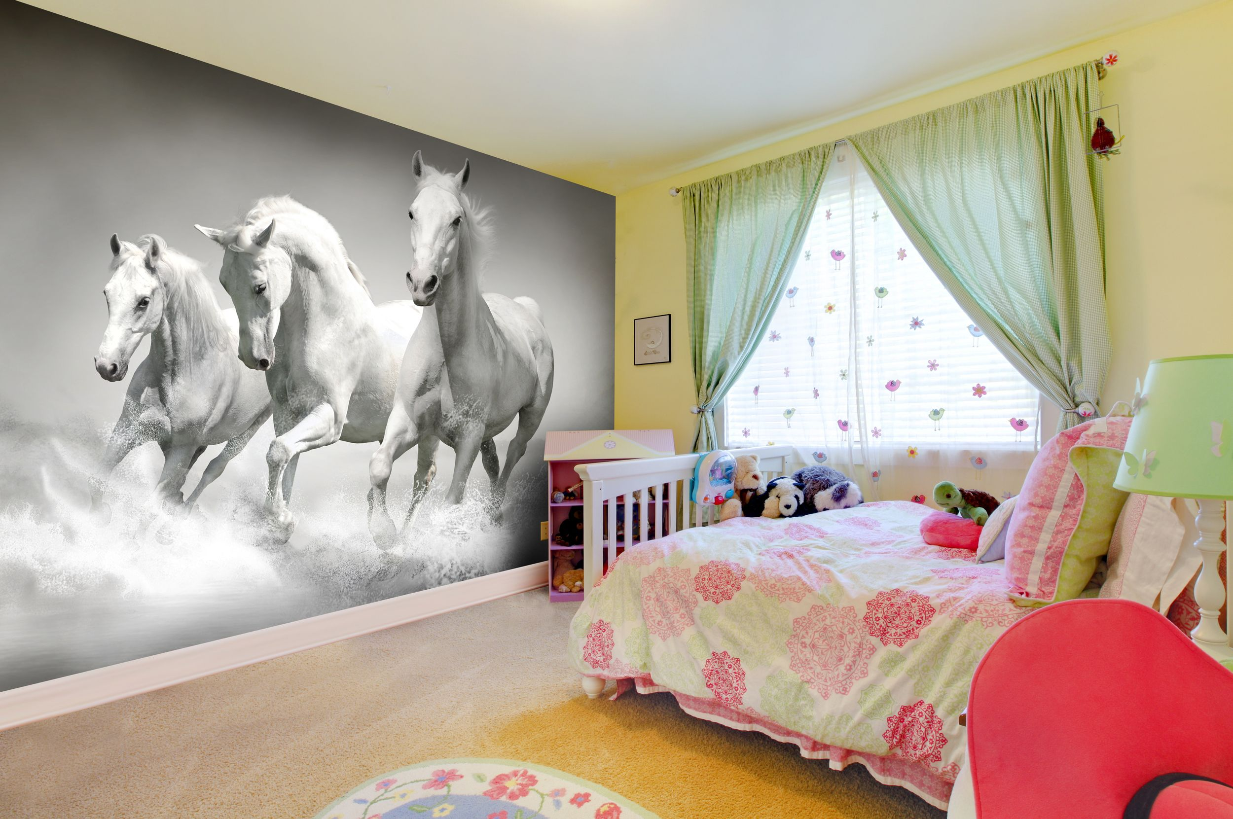 Horses Black White Bedroom Themes Horse Themed Bedrooms
