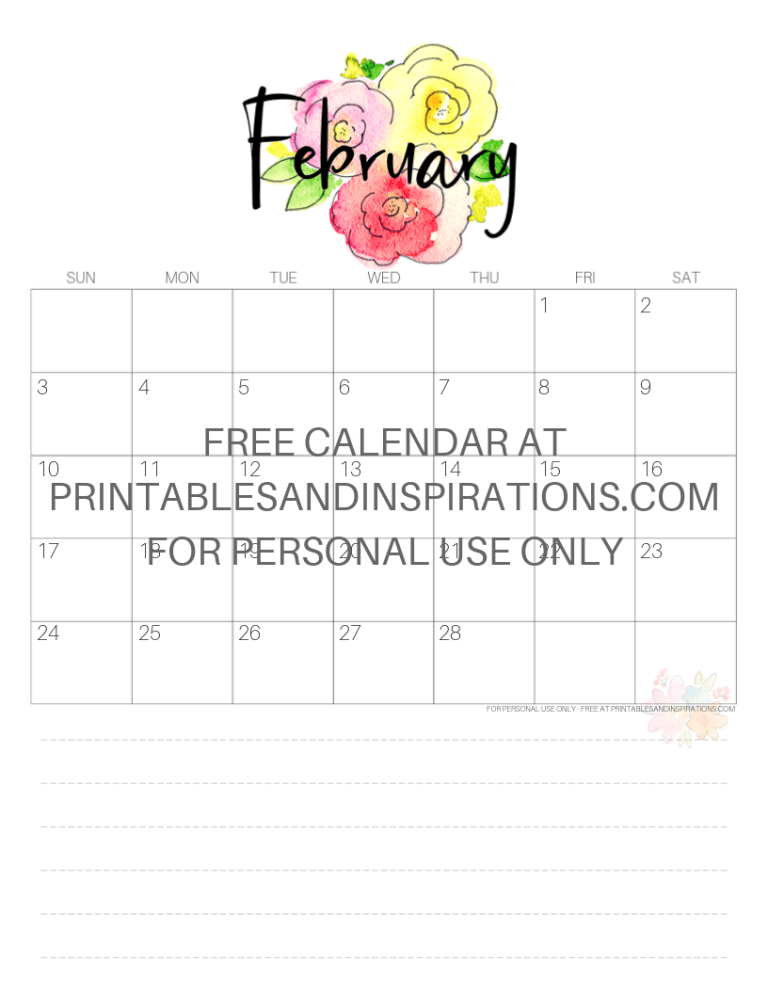 February 2019 Calendars Valentine Printables All From