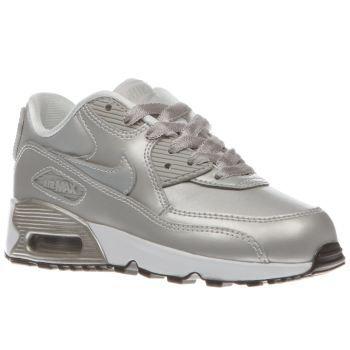 Nike Silver Air Max 90 Mesh Girls Junior Little feet can Max it out this  season