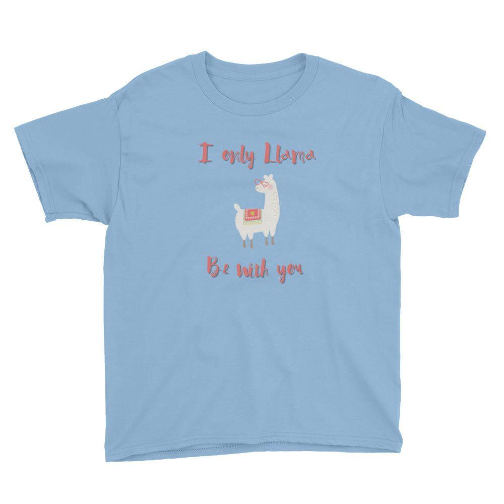 Cute Kids Valentines Day Llama Pun Youth Short Sleeve T Shirt By Circuit Tshirts Zazzle Jennitechdesigns On Etsy