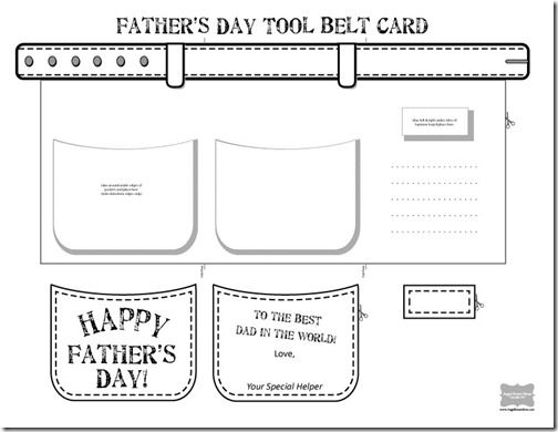 Tool Belt Father S Day Card Angel Street Mom Father S Day Card Template Father S Day Diy Fathers Day Cards