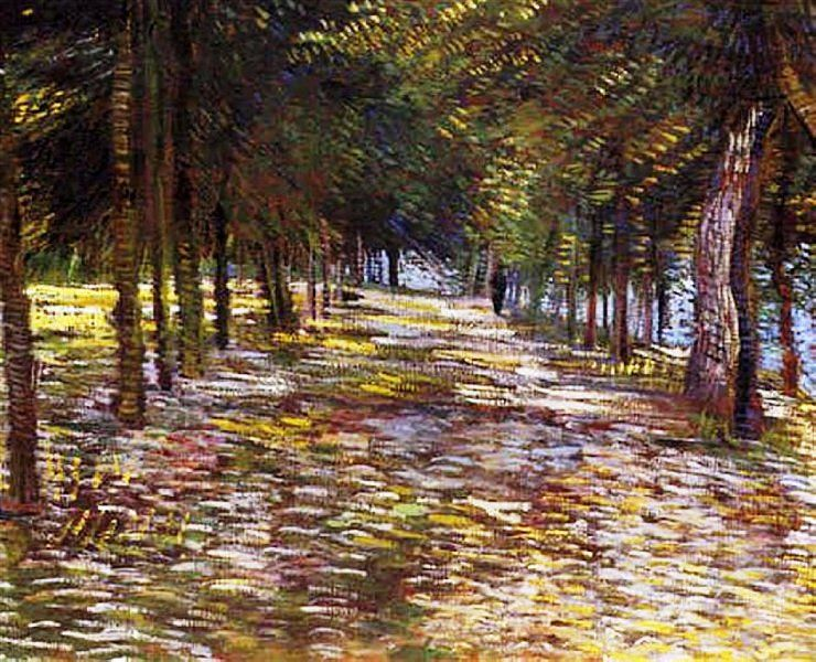Avenue with Flowering Chestnut Trees at Arles, 1889 Vincent van Gogh