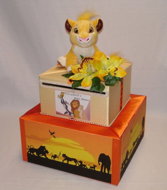 THE LION KING Theme Card Box For Baby Shower  Any Theme Can Be Made