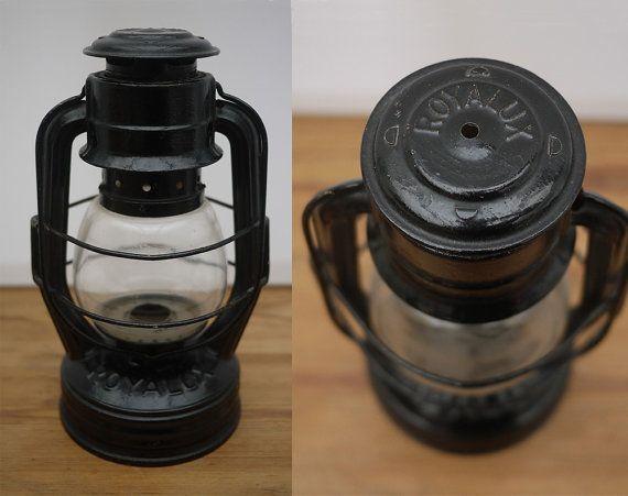 Ancienne Lampe Tempete A Petrole Royalux Par Lamachineabrocantes