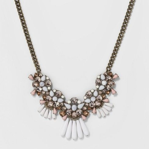 cb26fb27418d7 Sugarfix by BaubleBar Mixed Media Statement Necklace - Light Pink ...