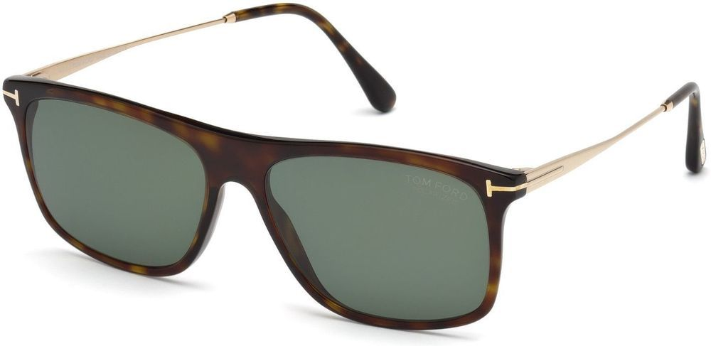 f6573ef014 Tom Ford FT0588 Max-02 8131 52R Dark Havana   Green Polarized Sunglasses