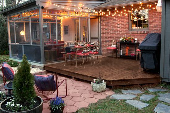 Perfect backyard for entertaining deck patio and sunroom for Backyard sunroom