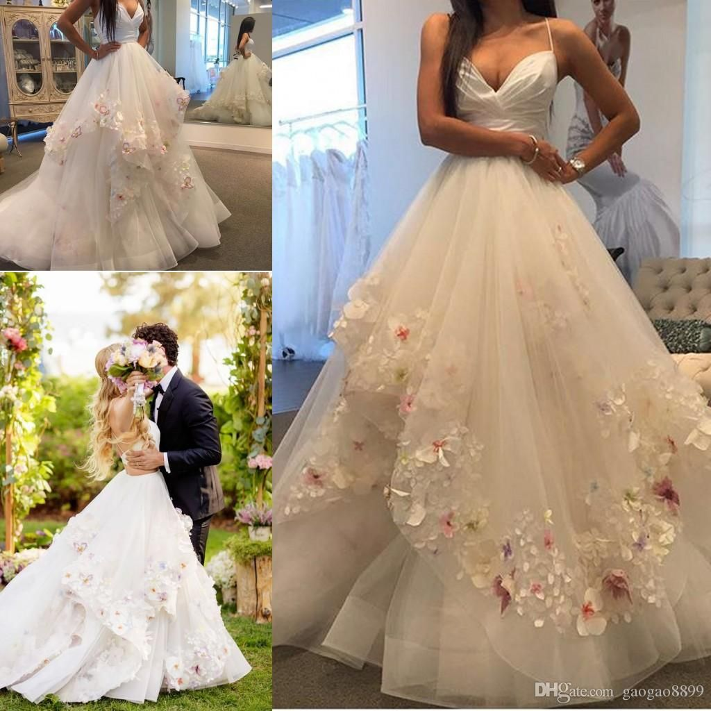 Pictures Of Latest Wedding Gowns: Hayley Paige 2017 Elegant 3d Appliques Wedding Dresses