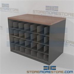 Counter High Drawing Storage Cabinet Work Surface Pigeon Hole Cubbies