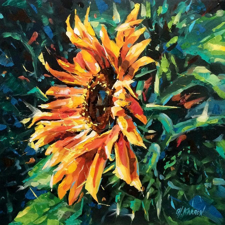 Sunflower in 2019 Sunflower art, Art, Acrylic painting