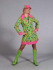 FANCY DRESS COSTUME 1970/'s FLOWER POWER GIRL XS 6-8