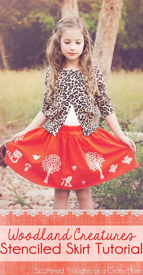 See how to make an adorable and original skirt using fabric paint ...