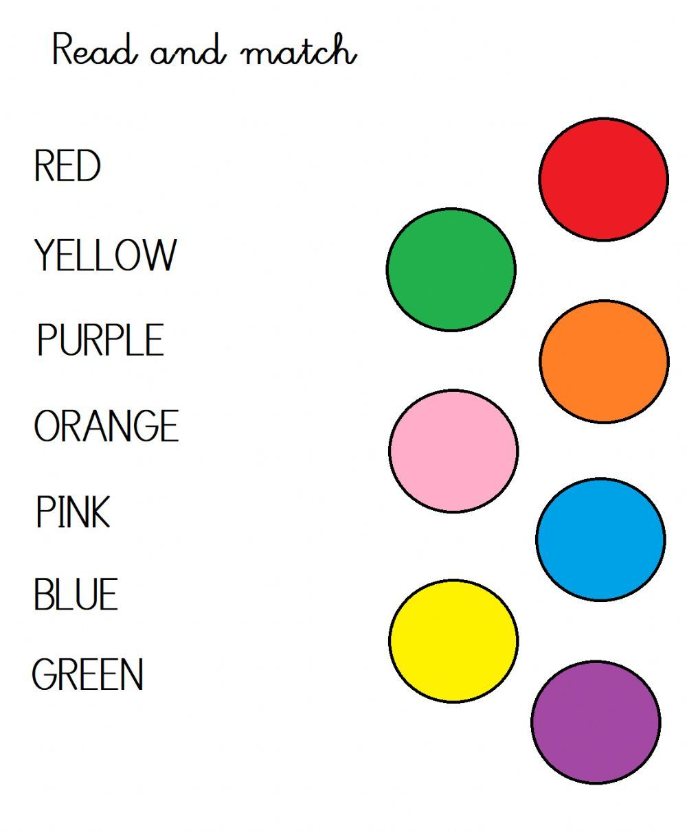 Match Colours Interactive Worksheet Color Worksheets Worksheets Mickey Coloring Pages [ 1212 x 1000 Pixel ]