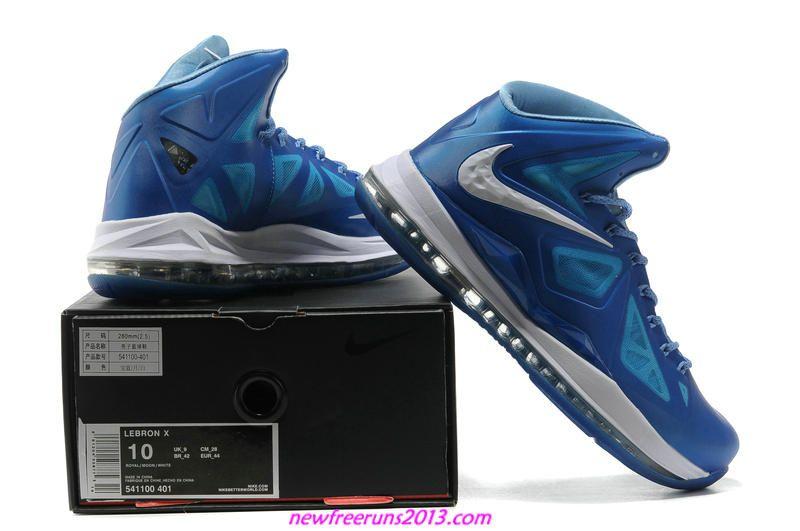Lebron 10 Lebron James Shoes 2013 Blue Diamond 541100 401