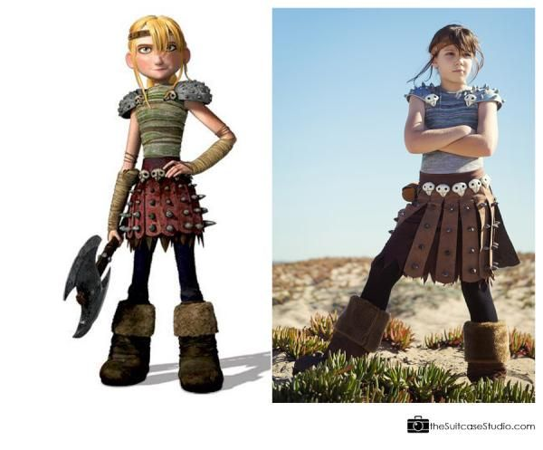 """my niece in her Halloween costume... Astrid, from """"How to ..."""