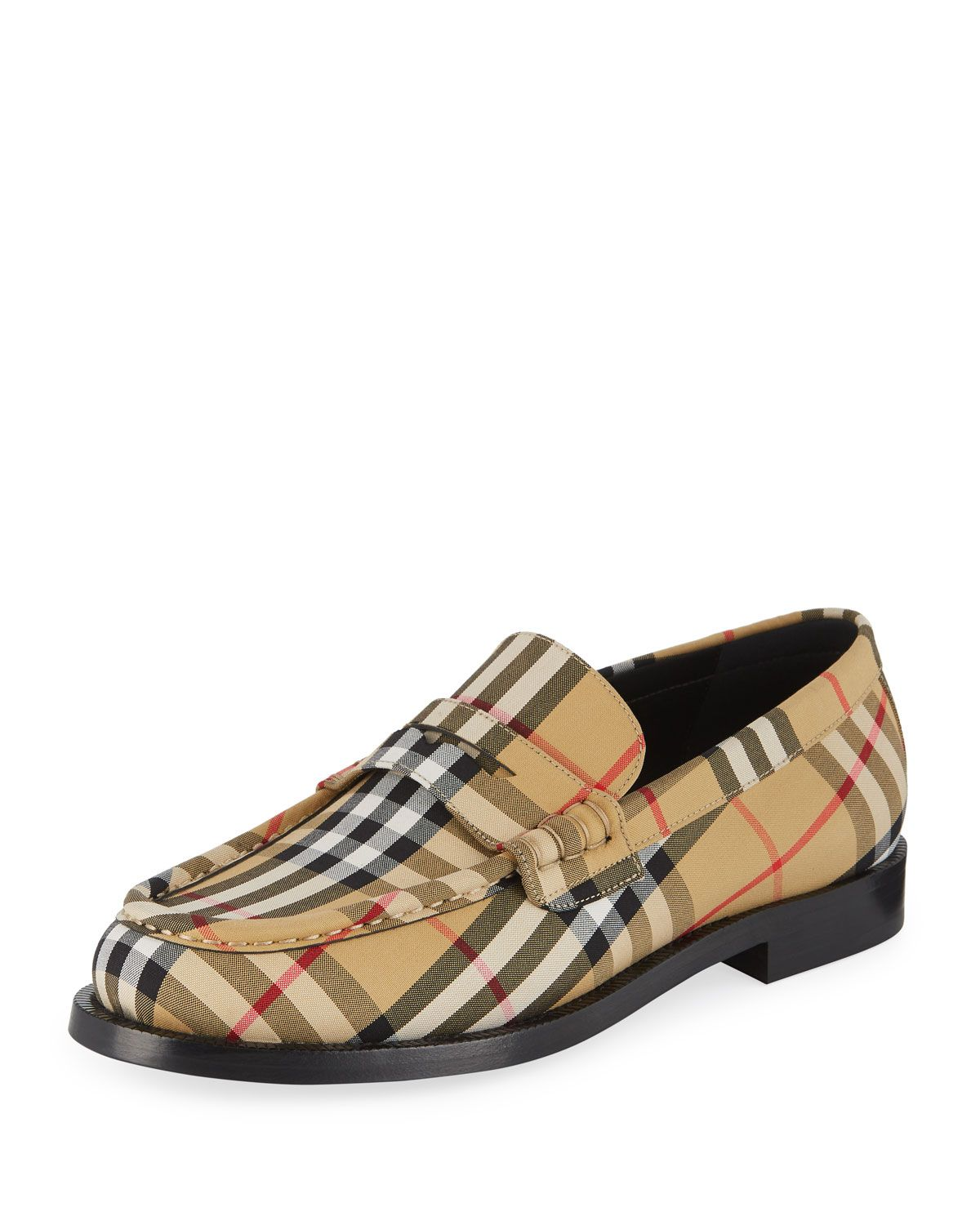 08234719aaa6 Burberry Men s Moore Signature Check Penny Loafer