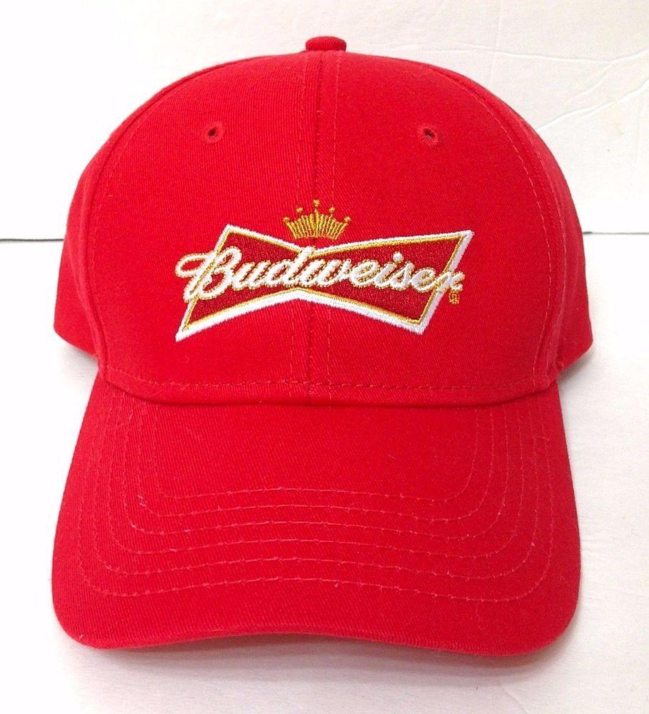 12b53ee58c3bd new BUDWEISER HAT Classic Red Bowtie Logo Beer Curved-Bill Snapback  Men Women  Budweiser  BaseballCap